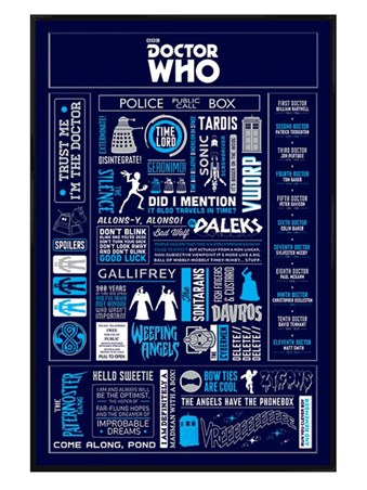 Gloss Black Framed Infographic - Doctor Who