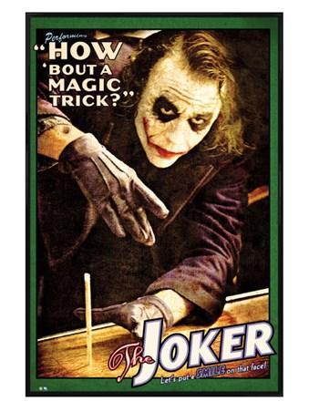 Gloss Black Framed How 'bout a Magic Trick? - Batman The Joker