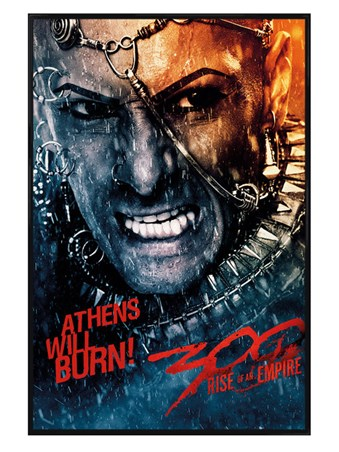 Gloss Black Framed Athens Will Burn! - 300:Rise Of An Empire
