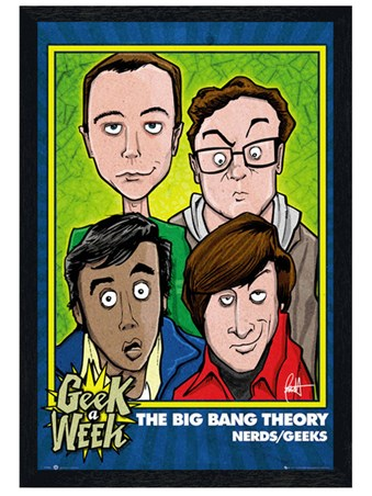 Black Wooden Framed Geek A Week - The Big Bang Theory