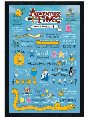 Black Wooden Framed Infographic - Adventure Time