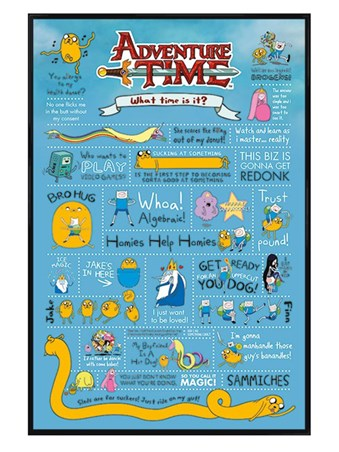 Gloss Black Framed Redonk Infographic - Adventure Time