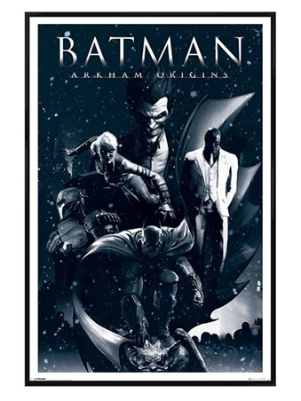 Gloss Black Framed Assassins - Batman Arkham Origins