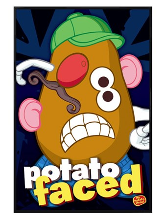 Gloss Black Framed Potato Faced - Mr Potato Head