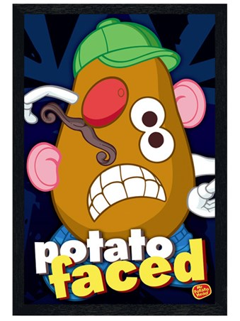 Black Wooden Framed Potato Faced - Mr Potato Head
