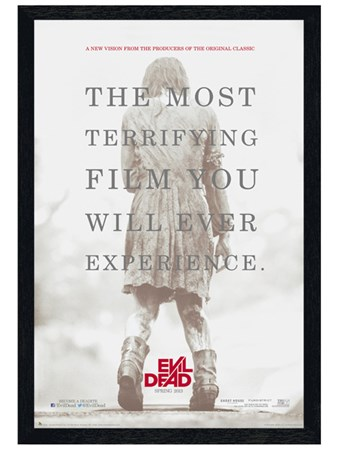 Black Wooden Framed A Terrifying Experience - The Evil Dead