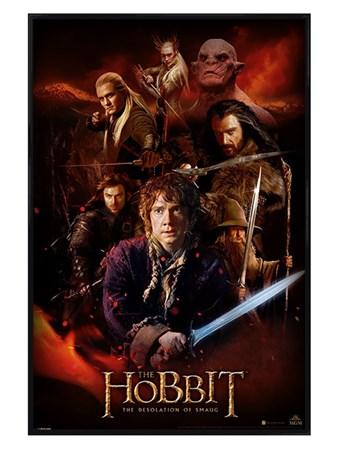 Gloss Black Framed Fire Montage - The Hobbit