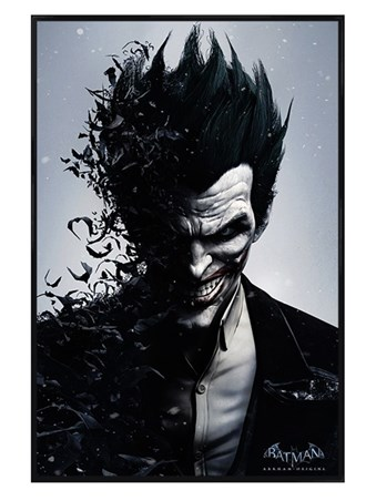 Gloss Black Framed Joker - Batman Arkham Origins