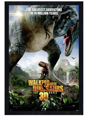 Black Wooden Framed The Greatest Adventure - Walking With Dinosaurs
