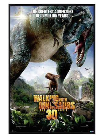Gloss Black Framed The Greatest Adventure - Walking With Dinosaurs