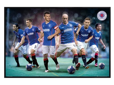 Gloss Black Framed Top Team Players - Rangers Football Club