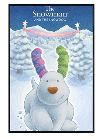 Gloss Black Framed Snowdog - The Snowman & The Snowdog