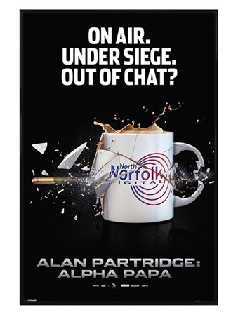Gloss Black Framed On Air, Under Siege - Alan Partridge: Alpha Papa