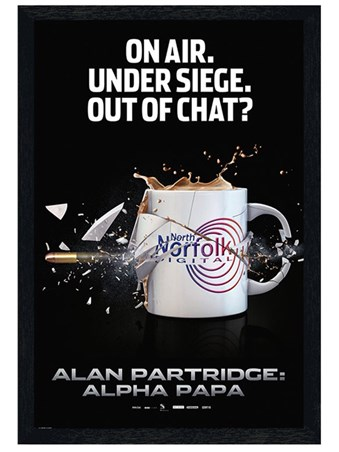 Black Wooden Framed On Air, Under Siege - Alan Partridge: Alpha Papa