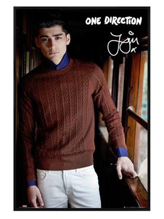 Gloss Black Framed Zayn Malik - One Direction