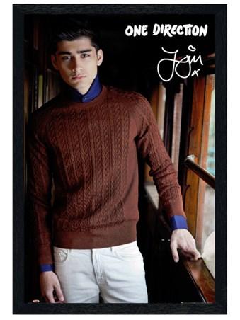 Black Wooden Framed Zayn Malik - One Direction