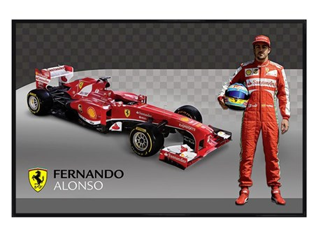 Gloss Black Framed Fernando Alonso - Formula 1 Ferrari