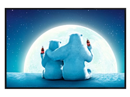 Gloss Black Framed Polar Bear Moon - Coca Cola