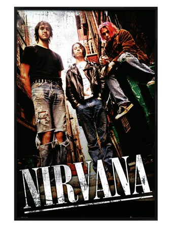 Gloss Black Framed Teen Spirit - Nirvana