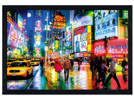 Black Wooden Framed Times Square - New York City