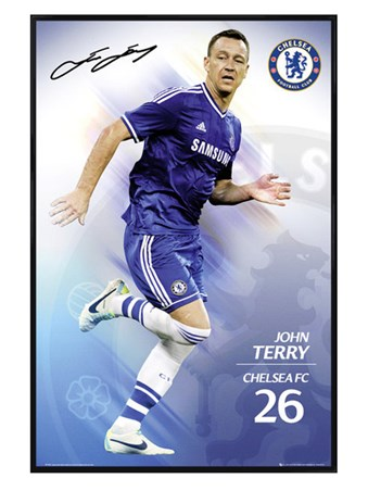 Gloss Black Framed John Terry - Chelsea Football Club
