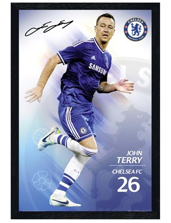Black Wooden Framed John Terry - Chelsea Football Club