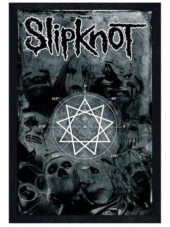 Black Wooden Framed Pentagram - Slipknot
