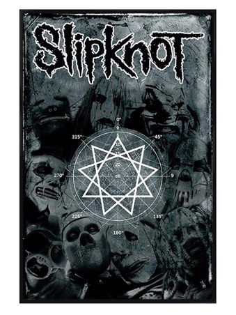 Gloss Black Framed Pentagram - Slipknot