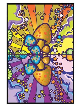 Gloss Black Framed Mushroom Magic - Charlie Hardwick