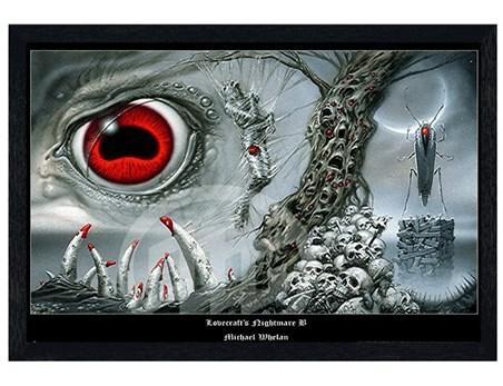 Black Wooden Framed Lovecraft'S Nightmare B - Michael Whelan