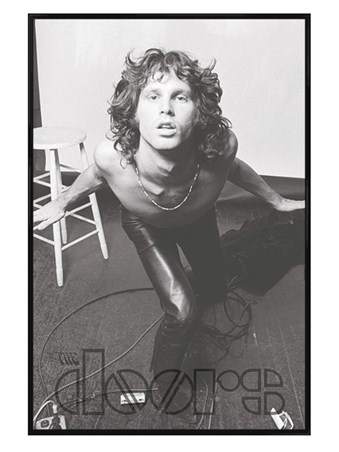 Gloss Black Framed Jim Morrison - The Doors