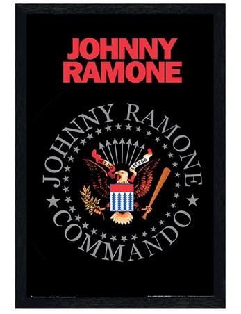 Black Wooden Framed Commando - Johnny Ramone