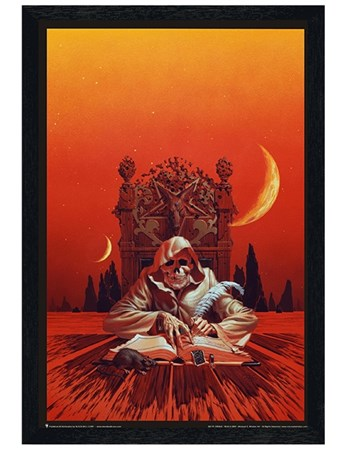 Black Wooden Framed Erebus - Michael Whelan
