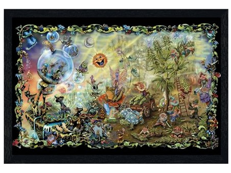 Black Wooden Framed Dreamland - Mike Dubois