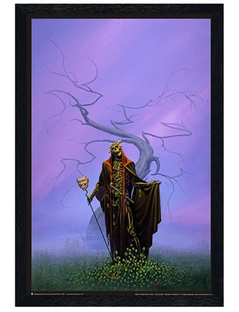 Black Wooden Framed Destroying Angel - Michael Whelan