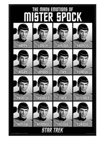 Gloss Black Framed The Many Emotions of Mister Spock - Star Trek