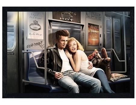 Black Wooden Framed Subway Ride - JJ Brando