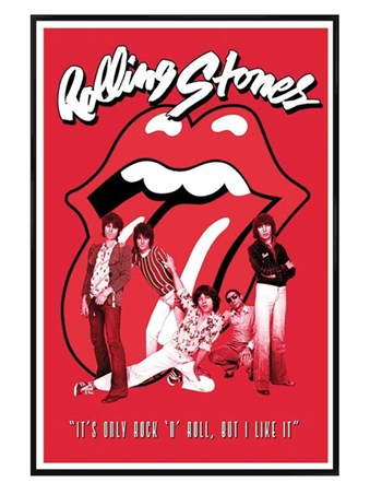 Gloss Black Framed It's Only Rock & Roll - The Rolling Stones