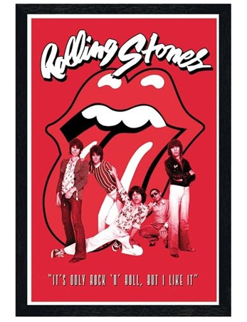 Black Wooden Framed It's Only Rock & Roll - The Rolling Stones