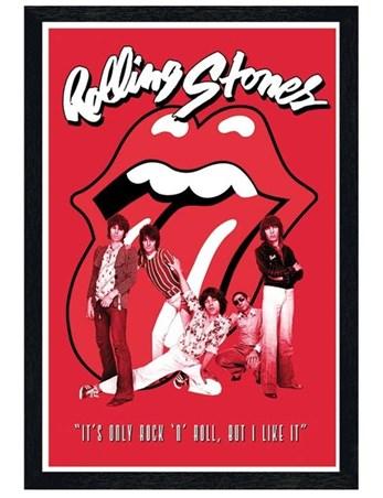 Framed Black Wooden Framed It's Only Rock & Roll - The Rolling Stones