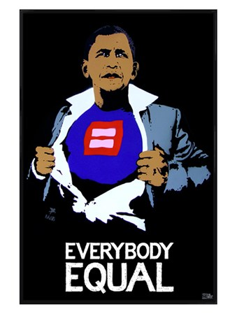 Gloss Black Framed Everybody Equal - Barack Obama