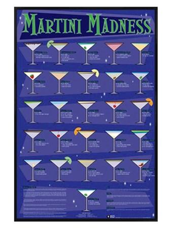 Gloss Black Framed Martini Madness -