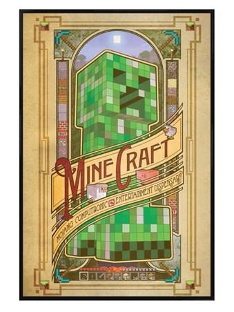 Gloss Black Framed Mojang Entertainment - Minecraft