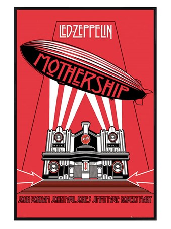 Gloss Black Framed The Mothership - Led Zeppelin