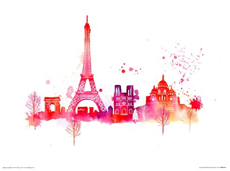 Paris Skyline - Summer Thornton