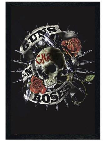 Black Wooden Framed Skull - Guns N Roses
