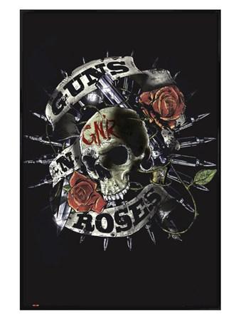 Gloss Black Framed Skull - Guns n Roses