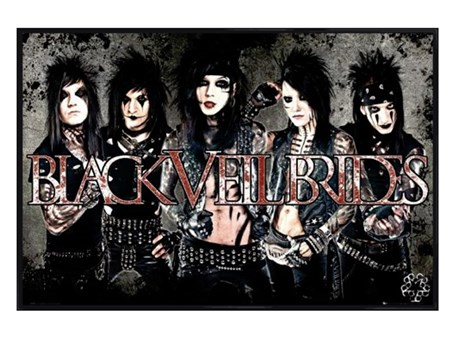 Gloss Black Framed Black Veil Brides - Glam Rock Poster