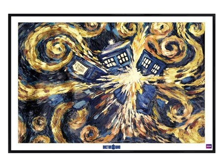 Gloss Black Framed Exploding Tardis, Dr Who