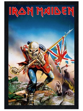 Black Wooden Framed Trooper - Iron Maiden